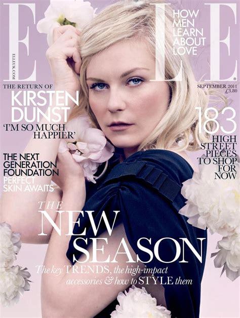 Is Elles September 2008 Cover by Uk Kirsten Dunst Pati Prema Dubroff
