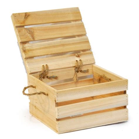 lada legno design wooden crate storage box with lid small things