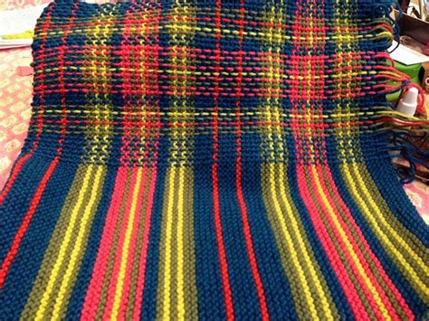 Trico Tartan faux tartan by sewing knitting sewing embroidery