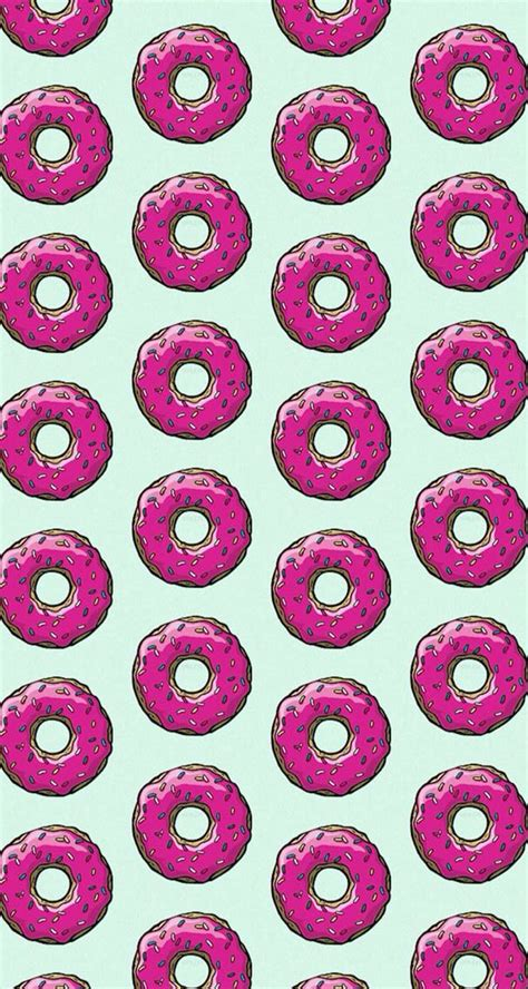 Donut Wallpaper Pinterest | donuts simpsons wallpaper wallpapers hd pinterest