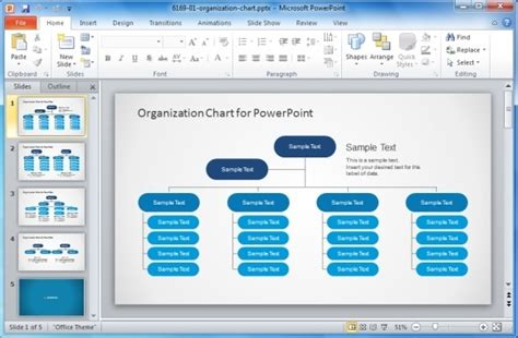 Best Organizational Chart Templates For Powerpoint Powerpoint Organization Chart Template