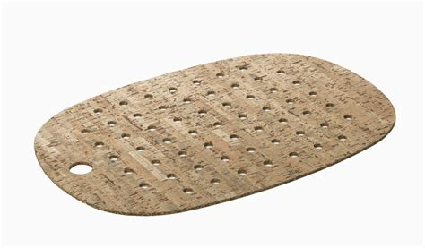 cork mats for bathrooms cork and rubber bath mat with natural cork veneer by