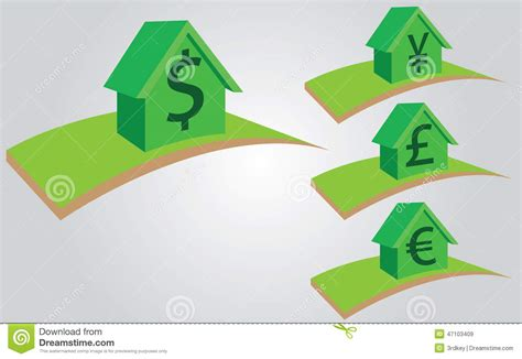 mortgage houses for sale houses with currency for sale rent or mortgage stock illustration image 47103409