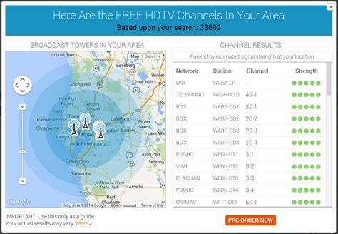 what channels i get introducing the tablo tv signal locator ota hdtv 5 the