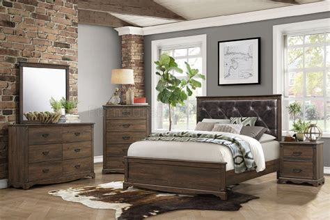 beaver creek pc bedroom set   rustic brown