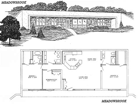 underground house floor plans lovely underground home plans 4 home underground house