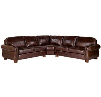 Thomasville Sectional Sofas In Fabric Leather Sectionals