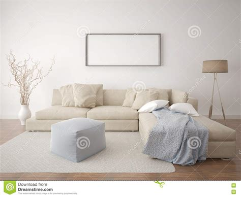 mock up poster living room stock illustration image