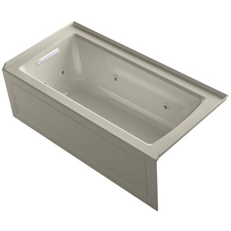 Archer Kohler Tub shop kohler archer sandbar acrylic rectangular alcove whirlpool tub common 30 in x 60 in