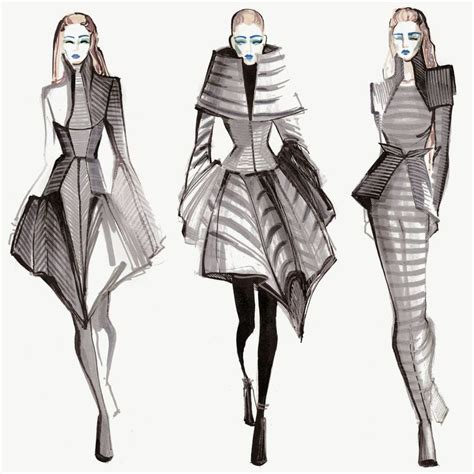 geometric pattern in fashion m 233 lique street inspired by gareth pugh fashion
