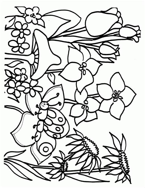 printable flowers in color flower page printable coloring sheets spring coloring