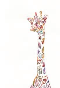colorful giraffe painting illustration watercolor colorful giraffe