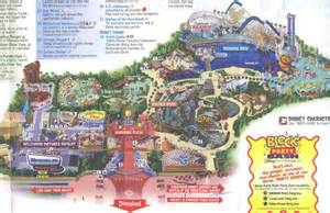 map of california adventure theme park brochures disney s california adventure theme