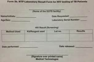 test results form template health resources form 2b ntp lab result form for