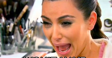 Ugly Cry Meme - kim kardashian crying face with and without makeup