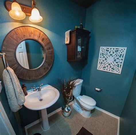 teal powder room inspired contemporary living area contemporary