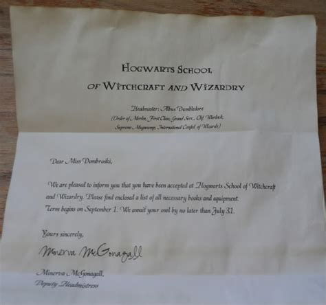 Harry Potter Acceptance Letter Template Purple Creations Diy Harry Potter Ideas Plus Free Printables