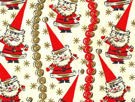 funky santa wrapping paper after i scanned this in i