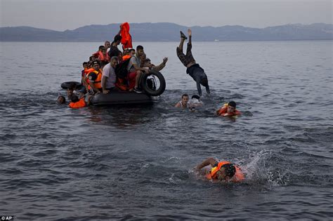refugee migrant rescue boat greek lesbos struggling to cope with the 4 000 migrants