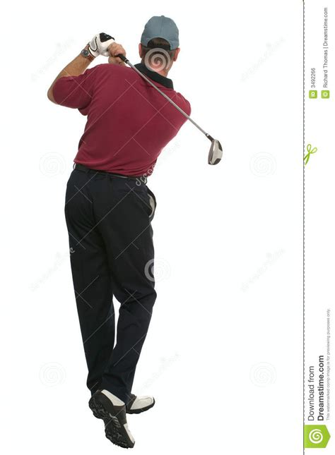 swing back golfer back swing rear view stock photo image 3492266