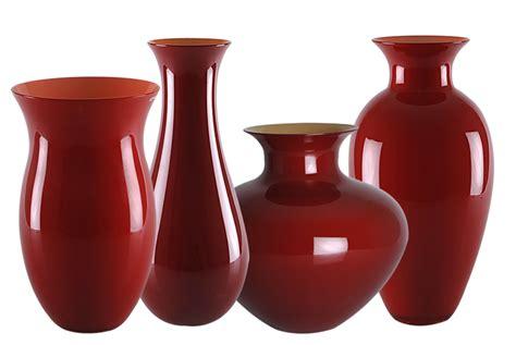 vaso rosso nasonmoretti vaso antares vetro di murano rosso porpora