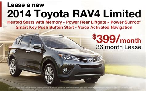 Lease A Toyota Rav4 2014 Rav4 Lease For Sale Toyota Dealer In Eau Wi