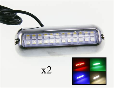 boat underwater lights red 2pcs pontoon boat red green blue white led underwater