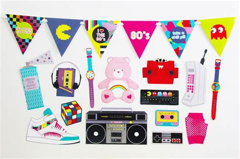 download themes for photo booth 80s photo booth props 80s party decorations printable