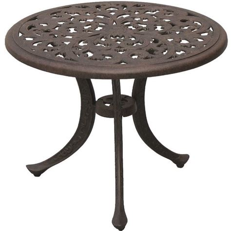 antique bronze table l darlee series 80 patio end table in antique bronze