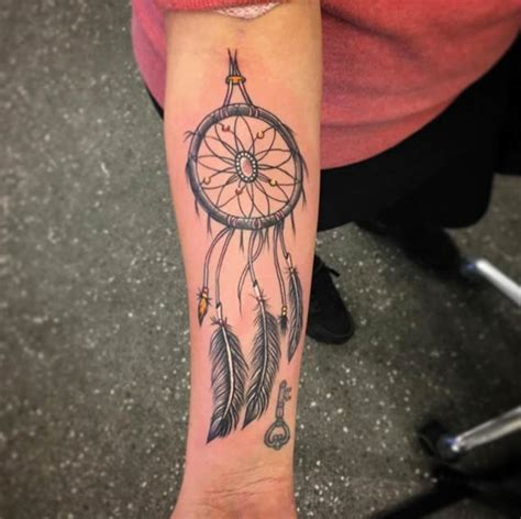 dreamcatcher forearm tattoo 130 dreamcatcher tattoos that you ll be dying to get inked