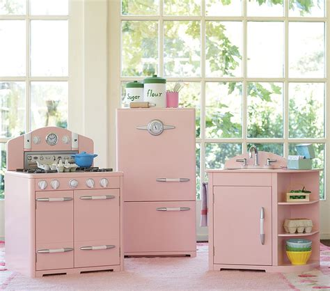 a retro pink kitchen at pottery barn bad it s for