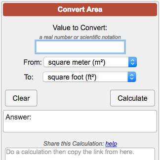 how to calculate dimensions from square feet area conversion calculator