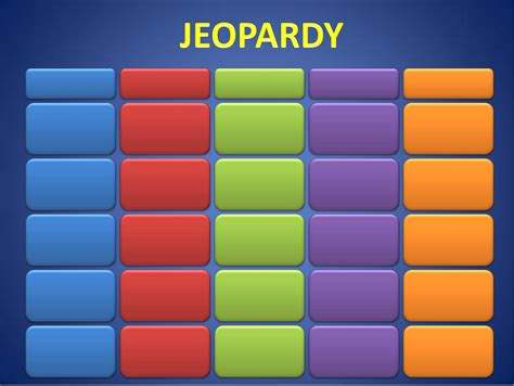 free jeopardy template sle template of jeopardy powerpoint free