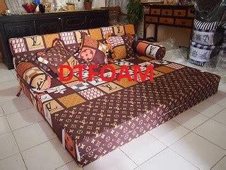 Kursi Yang Bisa Jadi Kasur sofa bed lv coklat dtfoam