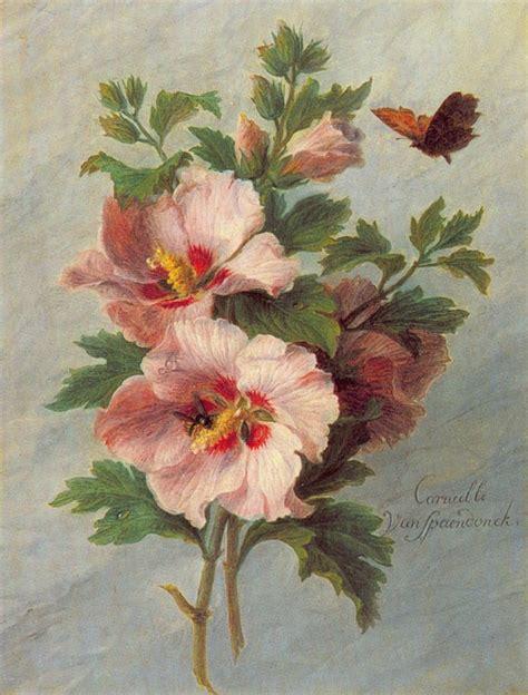 imagenes flores antiguas flores con mariposa lienzo de cornelis van spaendonck