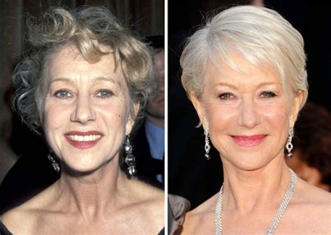 celebs who havent had neck lifts helen mirren plastic surgery before and after plastic