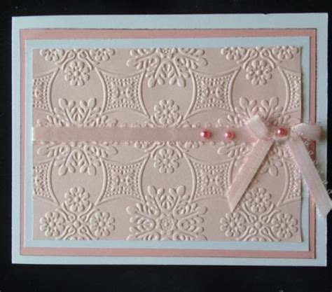 how to make embossed cards card techniques archives card world