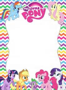 My Pony Template by 25 Best Ideas About My Pony Invitations On