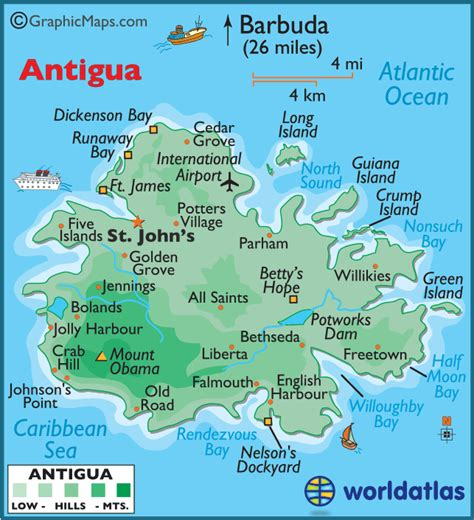 antigua map antigua and barbuda large color map