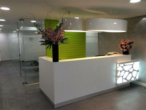 How To Make A Reception Desk Small Salon Reception Desk With Recessed Lighting Nytexas