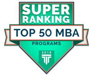 Us News And World Report Mba Rankings Methodology by Top 50 Mba Programs Ranking 2018