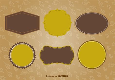 autumn labels  frames   vectors clipart graphics vector art