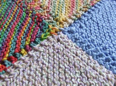 Patchwork Baby Blanket Knitting Pattern - a simple knitted patchwork blanket for beginners couture