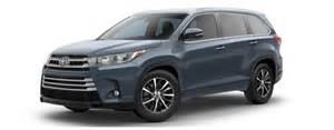 Blue Toyota Highlander 2017 Toyota Highlander Color Options