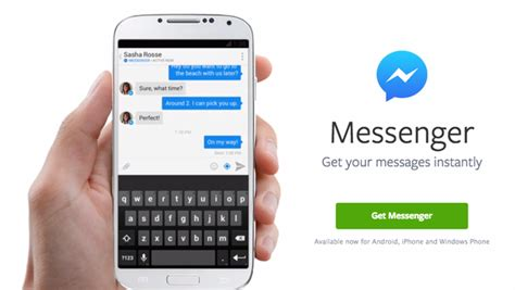 mobile messenger app mobile chats to standalone messenger app