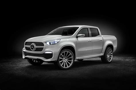mercedes pickup truck mercedes benz previews x class pickup truck with two concepts