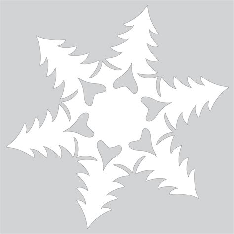 paper cut tree template paper snowflake pattern with trees cut out