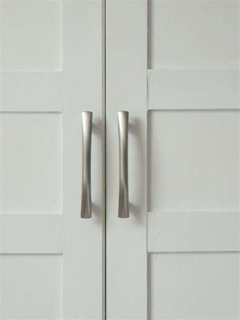 Remodelaholic Bi Fold To Paneled French Door Closet Makeover Closet Door Pulls Hardware