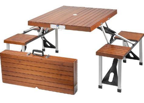 tailgate folding picnic table tailgate wooden picnic table folds into a suitcase