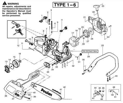 poulan thing chainsaw parts diagram poulan 2050wt gas saw type 6 wildthing 2050wt gas saw